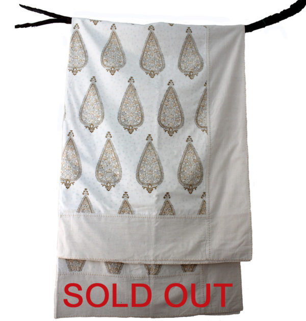 Riza Ochre Paisley embroidered Blanket Sold Out