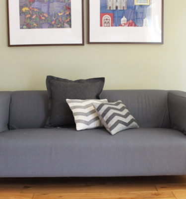 Cushion Cover - Pale and Dark Grey