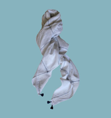 Lattice- Fine cotton Khadi Scarf